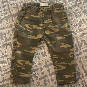 Zara Baby Boy Size 9-12mo Camo Jogger Pants